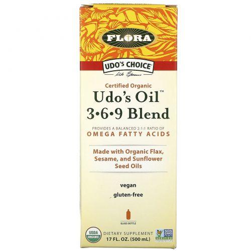 Flora, Выбор Удо, Смесь масел Удо 3 • 6 • 9, 17 жидких унций (500 мл)