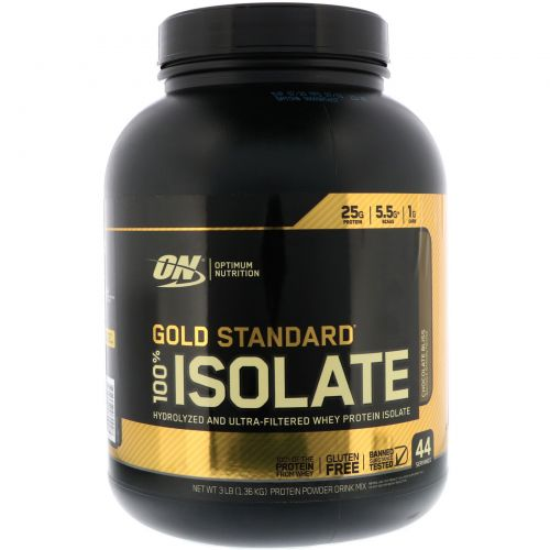 Optimum Nutrition, Gold Standard, 100% Isolate, Chocolate Bliss, 3 lb (1.36 kg)