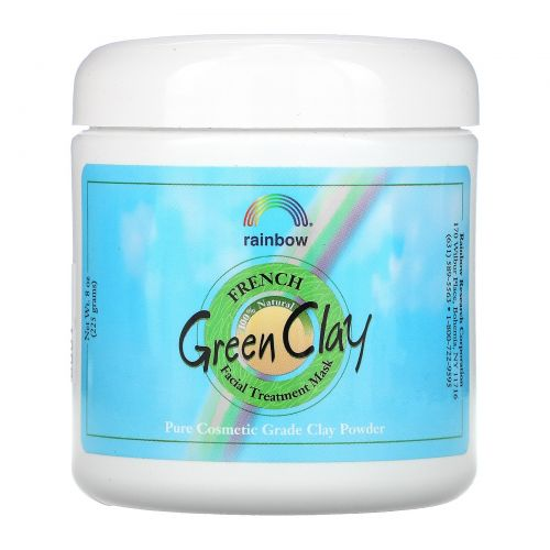 Rainbow Research, French Green Clay, Facial Treatment Mask, 8 oz (225 g)