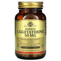 Solgar, Сокращенный L-глутатион в свободной форме, 50 мг, 90 капсул на растительной основе