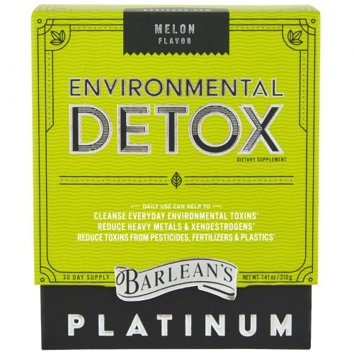 Barlean's, Средство детоксификации для факторов окружающей среды, дынный вкус, 210 г (7,41 унции)