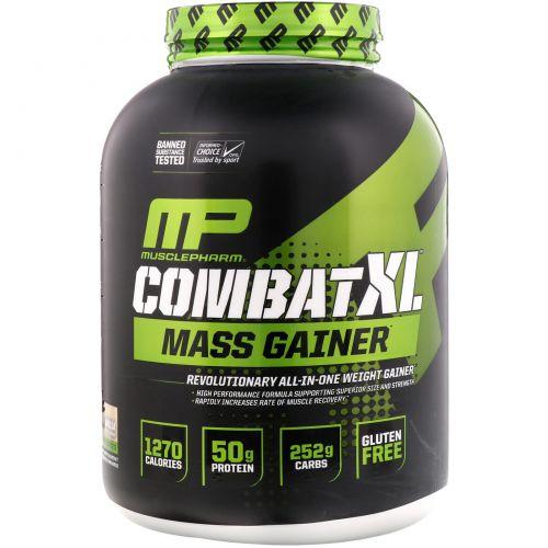 "Muscle Pharm, ""Битва XL"", гейнер, с ванильным вкусом, 96 унций (2722 г)"