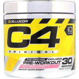 Cellucor, C4 Original Explosive, предтренировочный комплекс, клубника Margarita, 6,88 унц. (195 г)