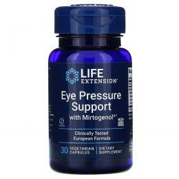 Life Extension, Препарат для нормализации глазного давления с миртогенолом, 30 растительных капсул