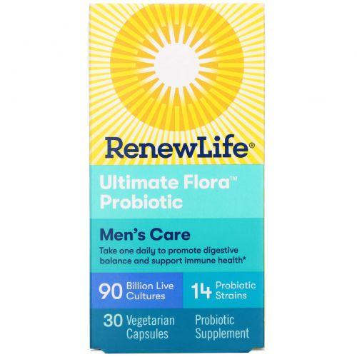 Renew Life, Полноценная флора Полный комплекс для мужчин, 30 вегетарианских капсул