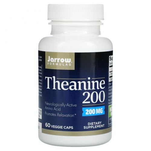 Jarrow Formulas, Theanine 200, 200 мг, 60 капсул