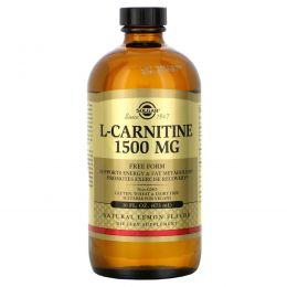 Solgar, L-карнитин, естественный лимонный вкус, 1500 мг, 16 жидк. унц. (473 мл)