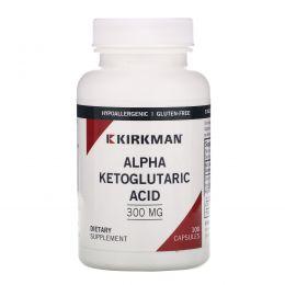Kirkman Labs, Альфа-кетоглутаровая кислота, 300 мг, 100 капсул