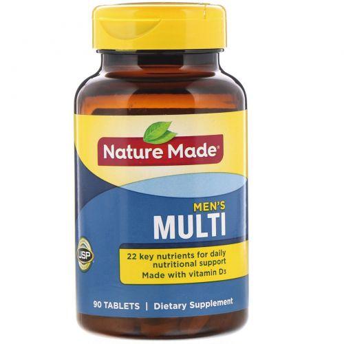 Nature Made, Multi for him, без железа, 90 таблеток