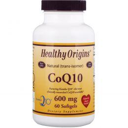 Healthy Origins, Коэнзим Q10, (Kaneka Q10), 600 мг, 60 гелевых капсул