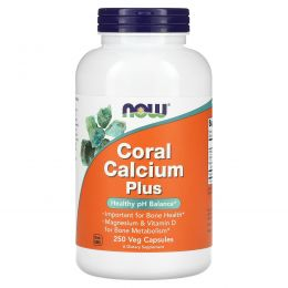 Now Foods, Coral Calcium Plus, 250 вегетарианских капсул
