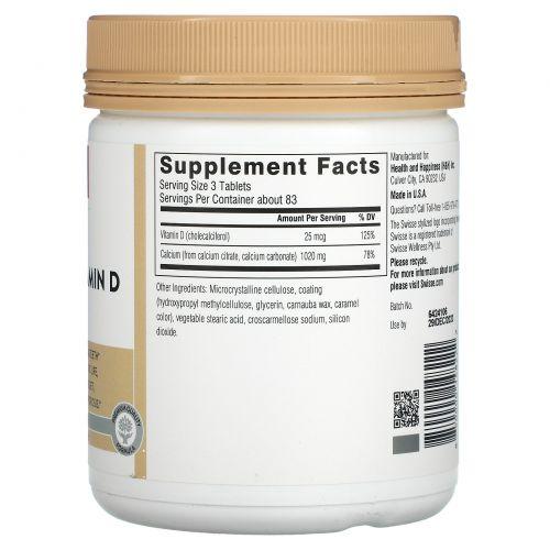 Swisse, Ultiboost, Calcium + Vitamin D, 250 Tablets