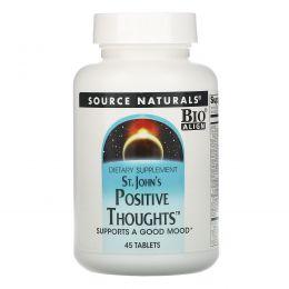 Source Naturals, Зверобой «Положительные мысли», 45 таблеток
