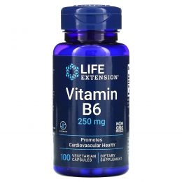 Life Extension, Vitamin B6, 250 mg, 100 Vegetarian Capsules