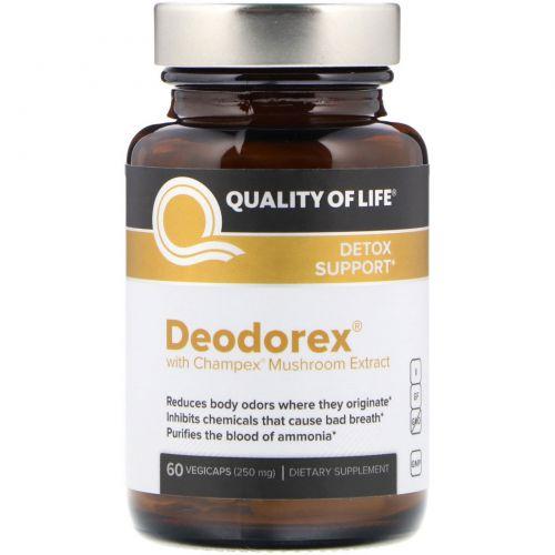 Quality of Life Labs, Deodorex , с экстрактом гриба Champex 60 овощных капсул