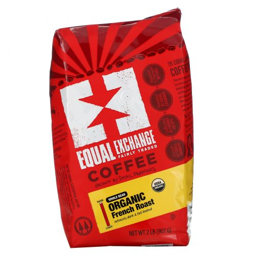 Equal Exchange, Organic, Coffee, French Roast, Whole Bean, 2 lb (907 g)