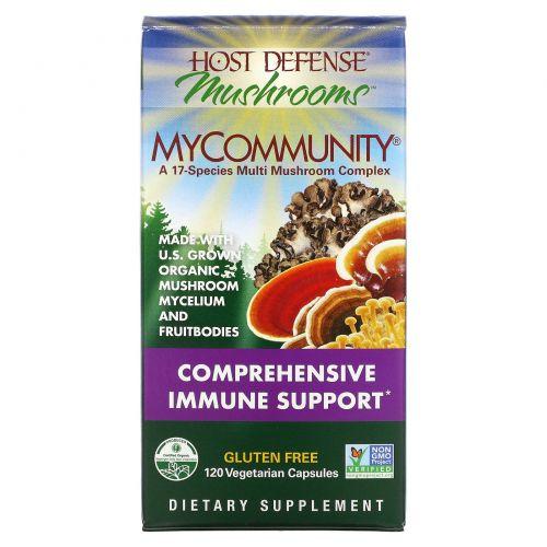 Fungi Perfecti, Иммунная защита, MyCommunity, 120 растительных капсул