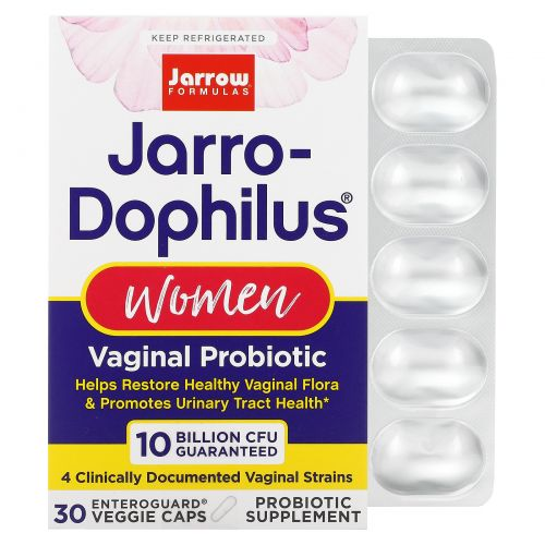 Jarrow Formulas, Пробиотики Jarro-Dophilus, для женщин, 30 капсул