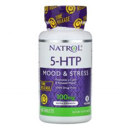 Natrol, 5-HTP TR, Time Release, 100 мг, 45 таблеток