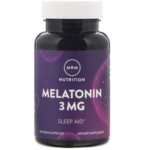 MRM, Мелатонин, 3мг, 60вегетарианских капсул