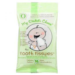Tooth Tissues, My Dentist's Choice, детские стоматологические салфетки, 30 салфеток