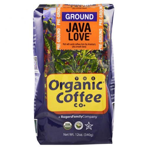 Organic Coffee Co., Кофе Java Love, молотый, 12 унций (340 г)