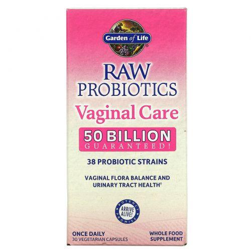 Garden of Life, Сырые пробиотики для вагинального здоровья, 30 капсул на растительной основе (Ice)