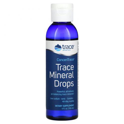 Trace Minerals Research, Liquimins, ConcenTrace, микроэлементы в каплях, 4 жидких унций (118 мл)