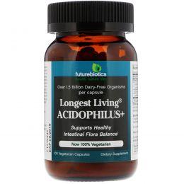 FutureBiotics, Longest Living Acidophilus+, 100 растительных капсул