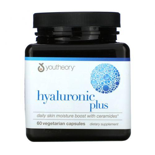 Youtheory, HyaluronicPlus, 60вегетарианских капсул