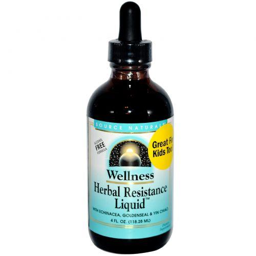 Source Naturals, «Здоровье», иммуностимулирующее средство «Жидкая растительная прочность», 4 жидких унции (118,28 мл)