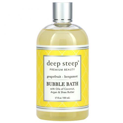 Deep Steep, Пена для ванны, грейпфрут - бергамот, 17.5 жидких унций (517 мл)