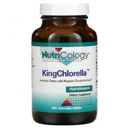 Nutricology, Королевская хлорелла, 600 жевательных таблеток