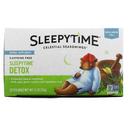 Celestial Seasonings, Оздоравливающий чай, детокс на сон грядущий, без кофеина, 20 чайных пакетиков, 1,2 унции (35 г)