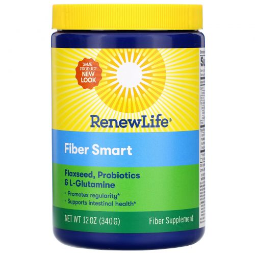 Renew Life, Пищевая добавка FiberSmart, 12 унций (340 г)