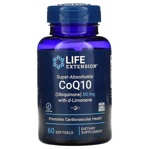 Life Extension, Super-Absorbable, CoQ10, 50 mg, 60 Softgels