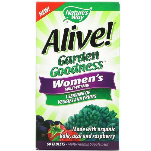 Nature's Way, Alive! Garden Goodness Women's Multivitamin, 60 Tablets
