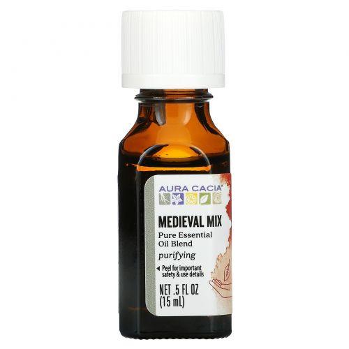 Aura Cacia, Pure Essential Oil Blend, Medieval Mix, 0.5 fl oz (15 ml)