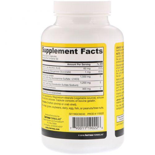 Jarrow Formulas, Глюкозамин + Хондротин + МСМ (Метилсульфонилметан), 240 капсул