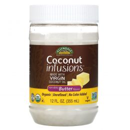 Now Foods, Ellyndale Naturals, Coconut Infusions, Non-dairy Butter Flavor, 12 fl oz (355 ml)