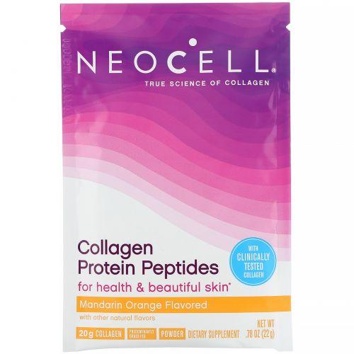 Neocell, Collagen Protein Peptides, Mandarin Orange, .78 oz (22 g)