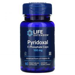 Life Extension, Пиридоксаль-5-фосфат (Витамин B6), 100 мг, 60 капсул