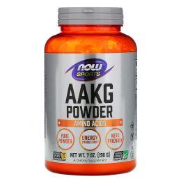 Now Foods, ААКГ (аргинин альфа-кетоглутарат) порошок, 7 унций (198 г)
