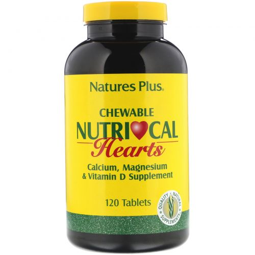 Nature's Plus, Жевательные сердечки Nutri-Cal, 120 таблеток