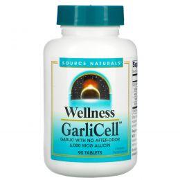 Source Naturals, «Здоровье», чеснок, GarliCell, 6000 мкг, 90 таблеток