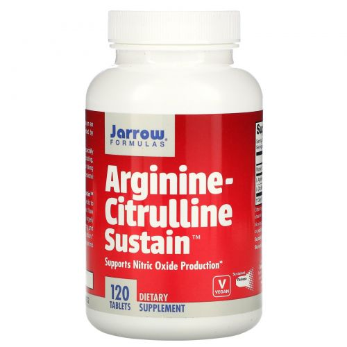 Jarrow Formulas, Arginine-Citrulline Sustain, 120 таблеток