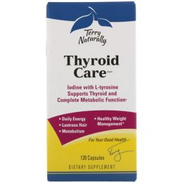EuroPharma, Terry Naturally, Terry Naturally, Thyroid Care, забота о щитовидной железе, 120 капсул