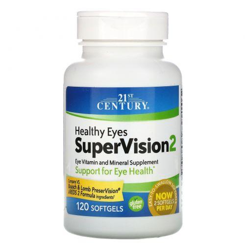 21st Century, Здоровые глаза, SuperVision2, 120 мягких капсул
