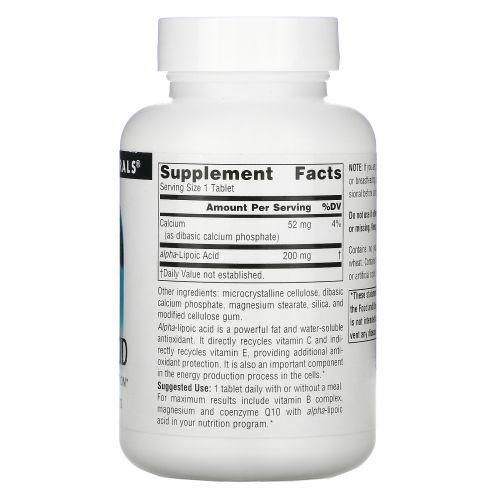 Source Naturals, Альфа-липоевая кислота, 200 мг, 120 таблеток