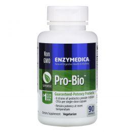 Enzymedica, Pro-Bio, пробиотик гарантированного действия, 90 капсул